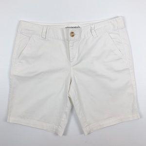 Aeropostale Bermuda White Preppy Shorts Size 11/12